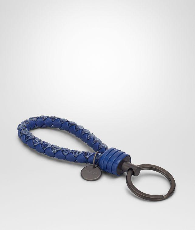BOTTEGA VENETA COBALT INTRECCIATO AYERS KEY RING Keyring or Bracelets E fp