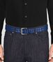 BOTTEGA VENETA COBALT BLUE INTRECCIATO BELT Belt Man ap