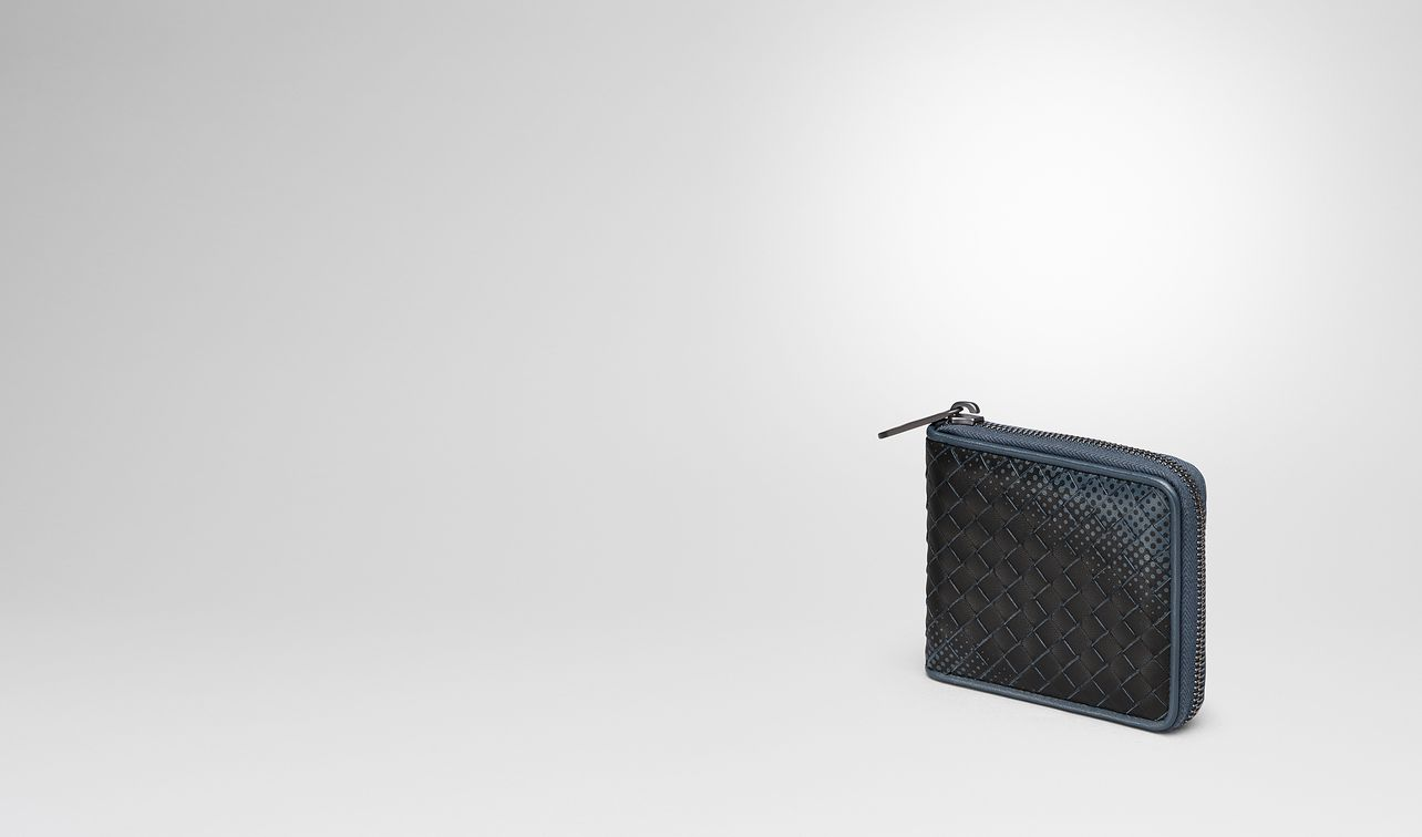 denim intrecciato nappa zip-around wallet landing