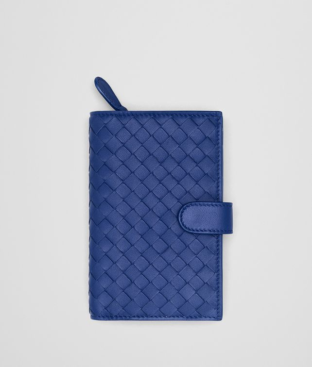 BOTTEGA VENETA COBALT INTRECCIATO NAPPA MINI WALLET Continental Wallet [*** pickupInStoreShipping_info ***] fp