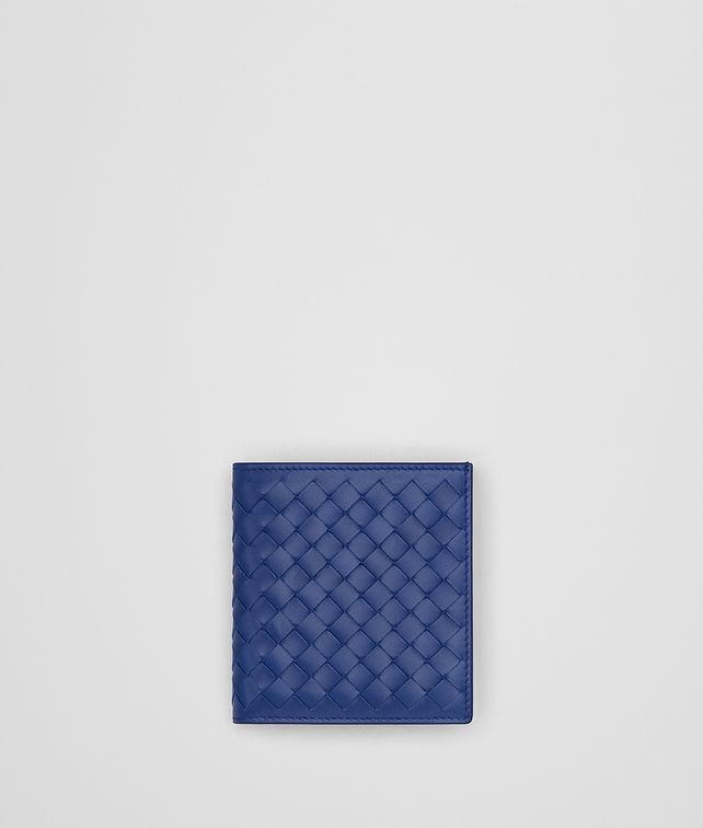 BOTTEGA VENETA COBALT BLUE INTRECCIATO WALLET Bi-fold Wallet [*** pickupInStoreShippingNotGuaranteed_info ***] fp