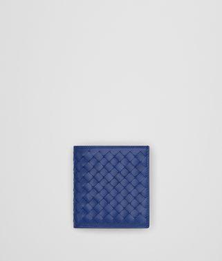 COBALT BLUE INTRECCIATO WALLET