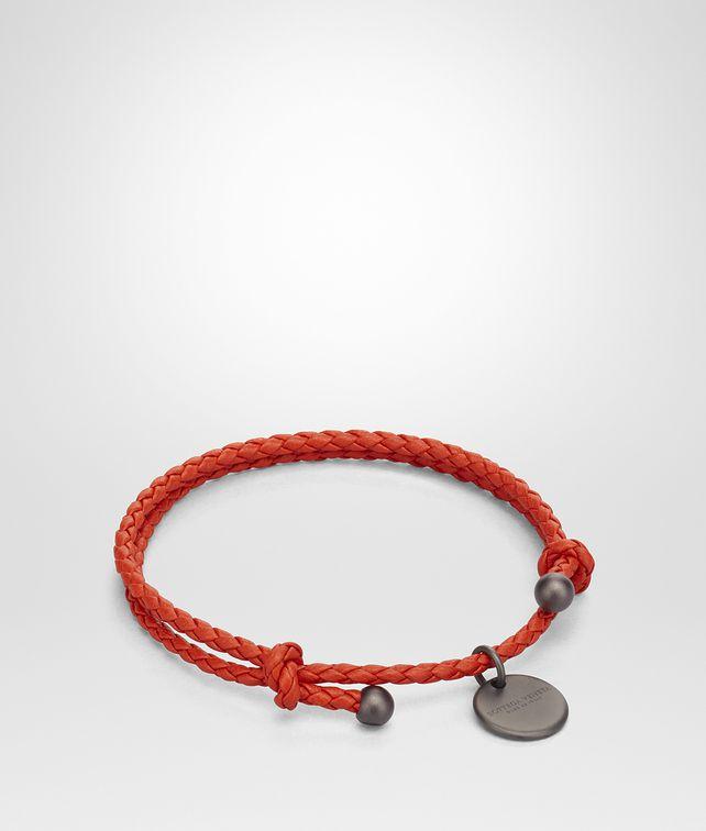 2fa75beaae93 BOTTEGA VENETA TERRACOTTA INTRECCIATO NAPPA BRACELET Keyring or Bracelets E  fp