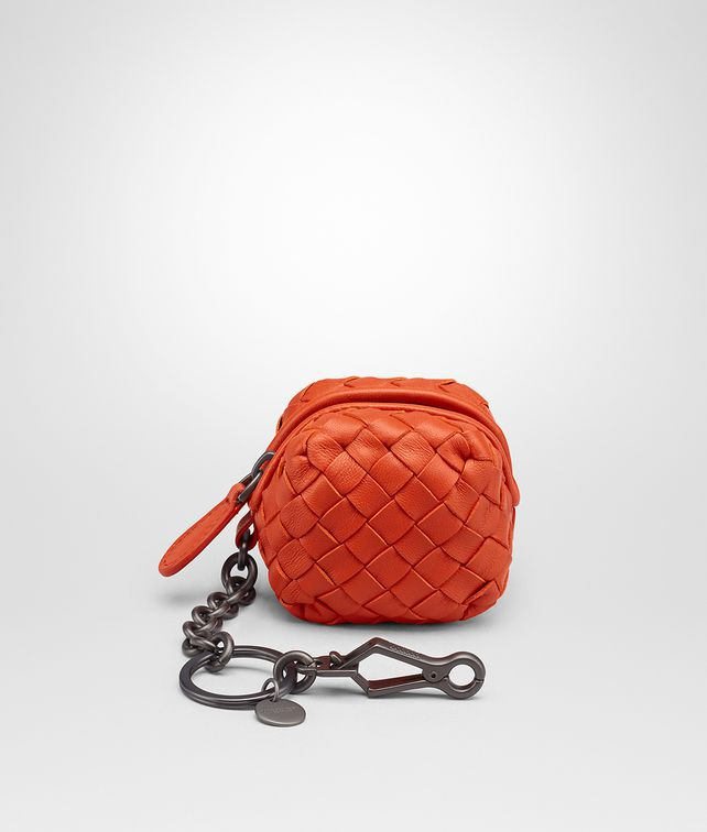 BOTTEGA VENETA TERRACOTTA INTRECCIATO NAPPA KEY RING Keyring or Bracelets E fp