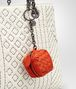BOTTEGA VENETA TERRACOTTA INTRECCIATO NAPPA KEY RING Keyring or Bracelets E ap