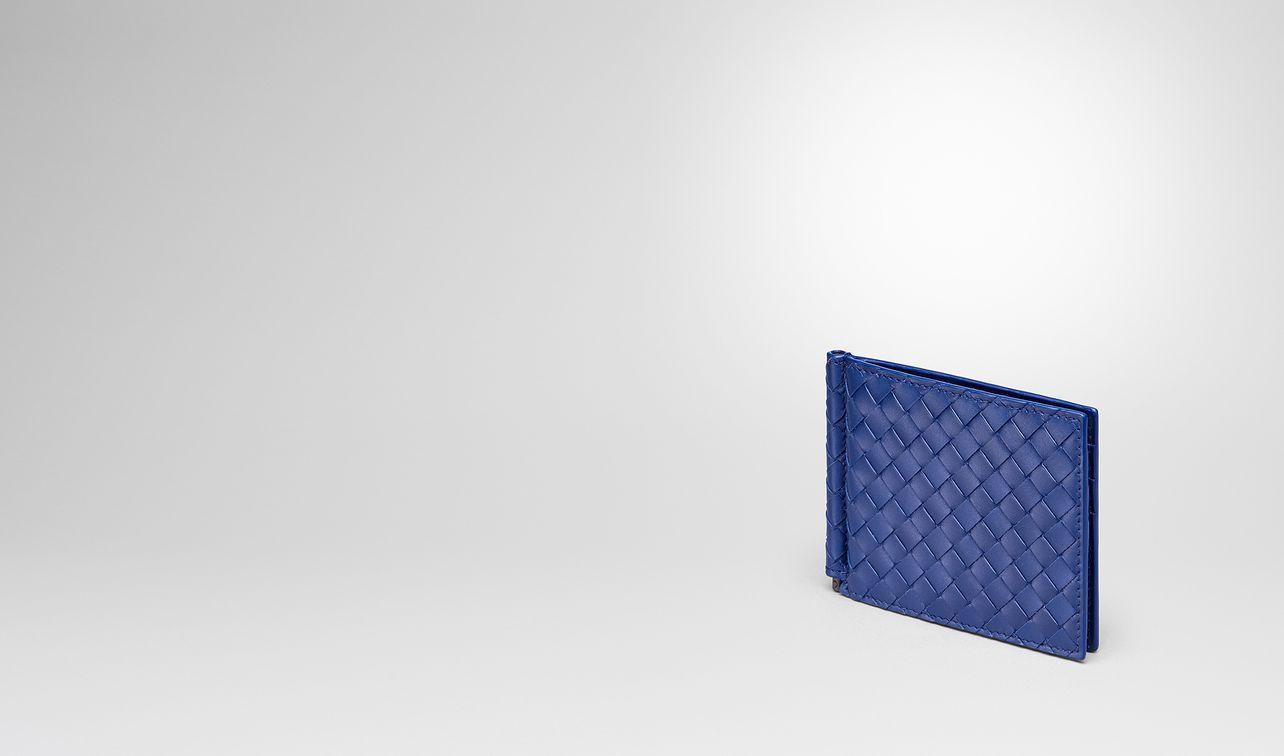 intrecciato portemonnaie in cobalt blue landing