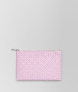 POCHETTE MEDIA IN INTRECCIATO NAPPA DRAGEE