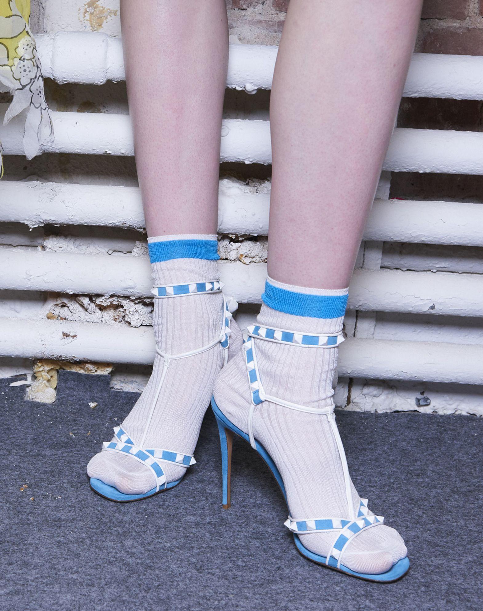 VALENTINO Silk Knitted Socks Socks D l