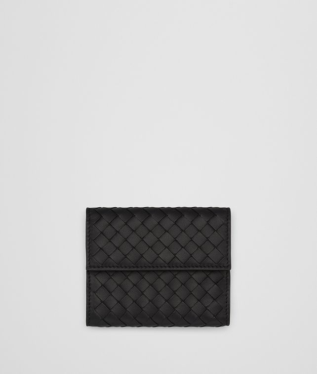 BOTTEGA VENETA NERO INTRECCIATO NAPPA MINI WALLET Mini Wallet Woman fp
