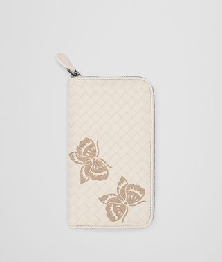 MINK INTRECCIATO NAPPA ZIP-AROUND WALLET