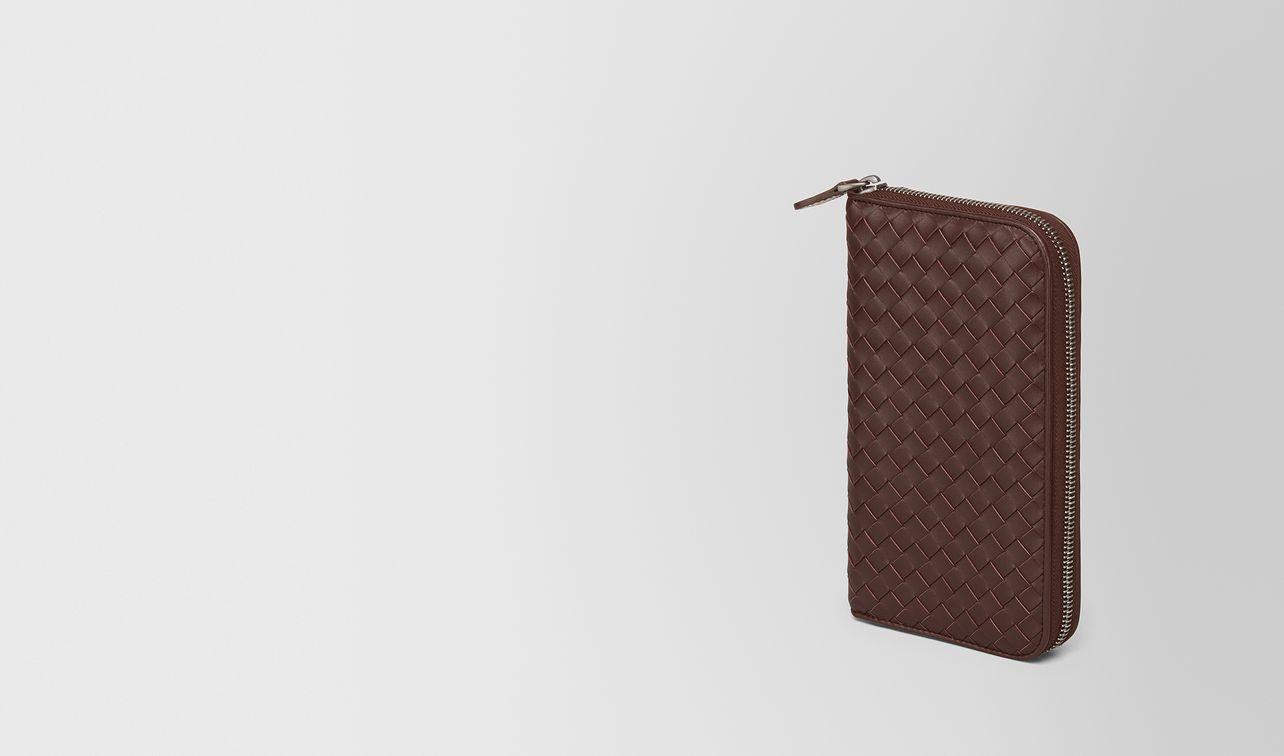 dark barolo intrecciato zip-around wallet landing