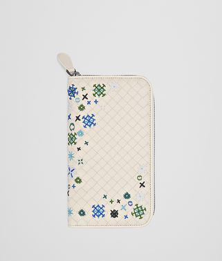MIST INTRECCIATO MEADOW FLOWER ZIP-AROUND WALLET