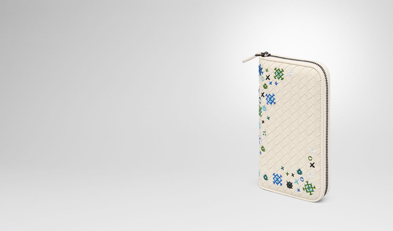 mist intrecciato meadow flower zip-around wallet landing