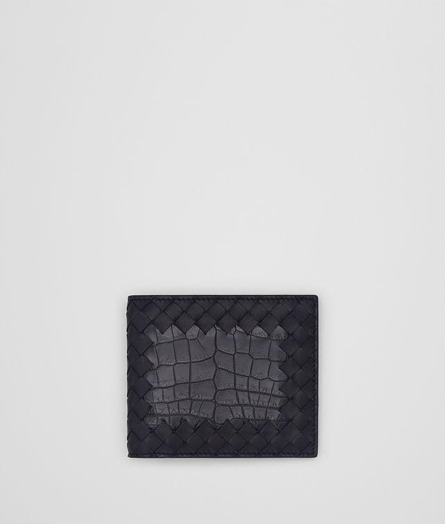 BOTTEGA VENETA TOURMALINE INTRECCIATO NAPPA CROCODILE WALLET Bi-fold Wallet Man fp