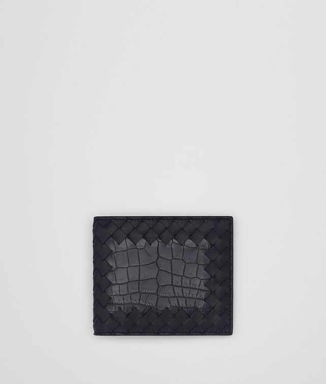 BOTTEGA VENETA TOURMALINE INTRECCIATO NAPPA CROCODILE WALLET Bi-fold Wallet [*** pickupInStoreShippingNotGuaranteed_info ***] fp