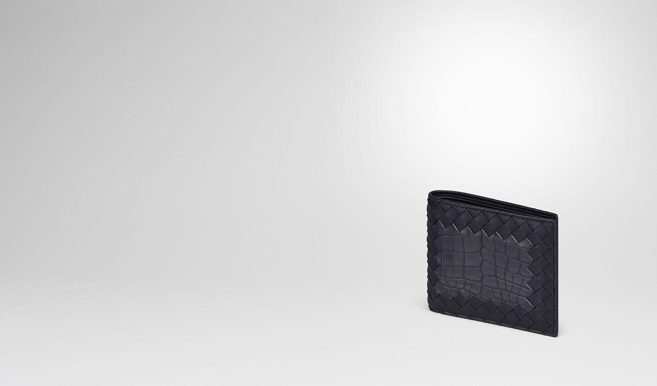 tourmaline intrecciato nappa crocodile wallet landing