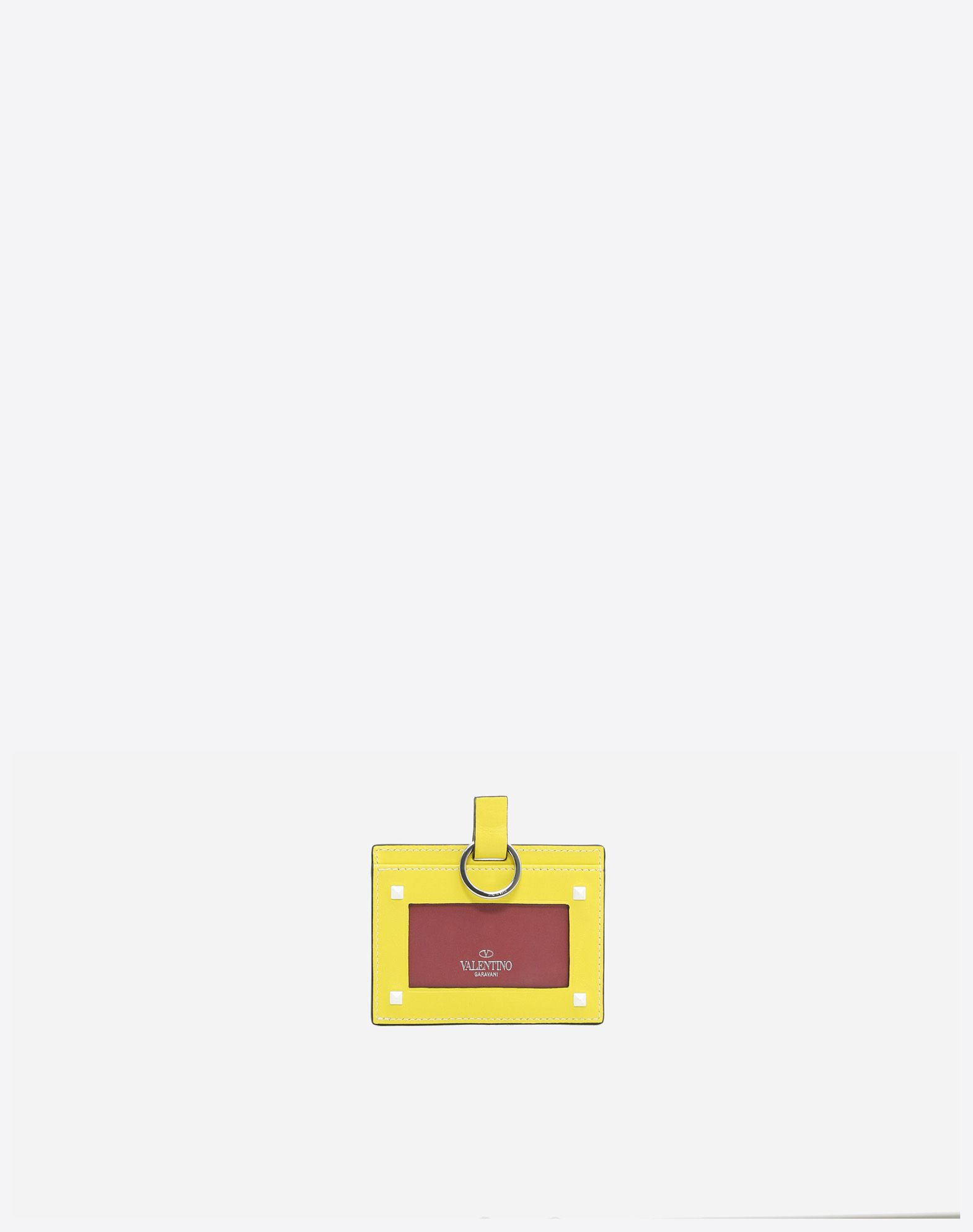 VALENTINO GARAVANI Free Rockstud Spike Badge Holder CARD CASE D r