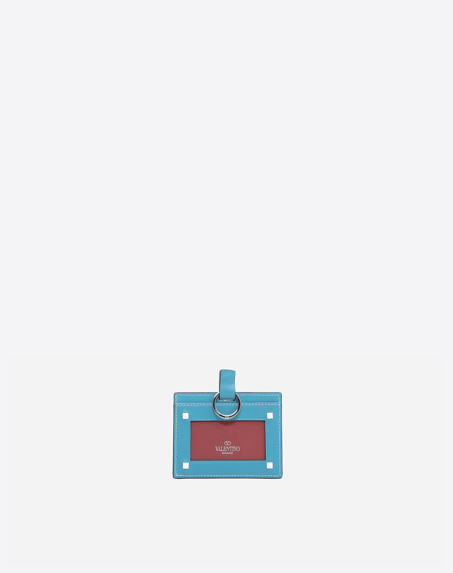 VALENTINO GARAVANI Free Rockstud Spike Badge Holder COIN PURSES & CARD CASES D r