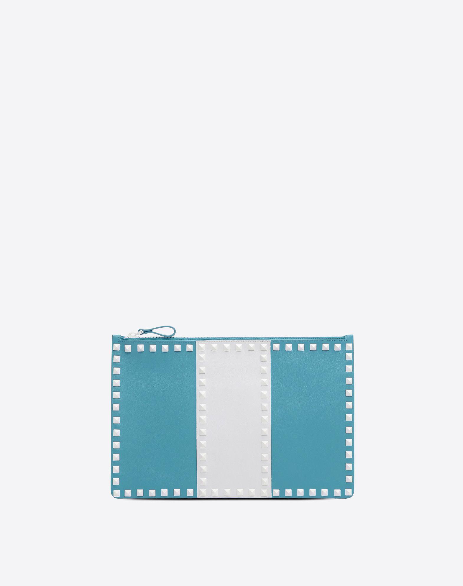 VALENTINO 铆钉 双色图案 附品牌标志 拉链 全里衬  46549566tx