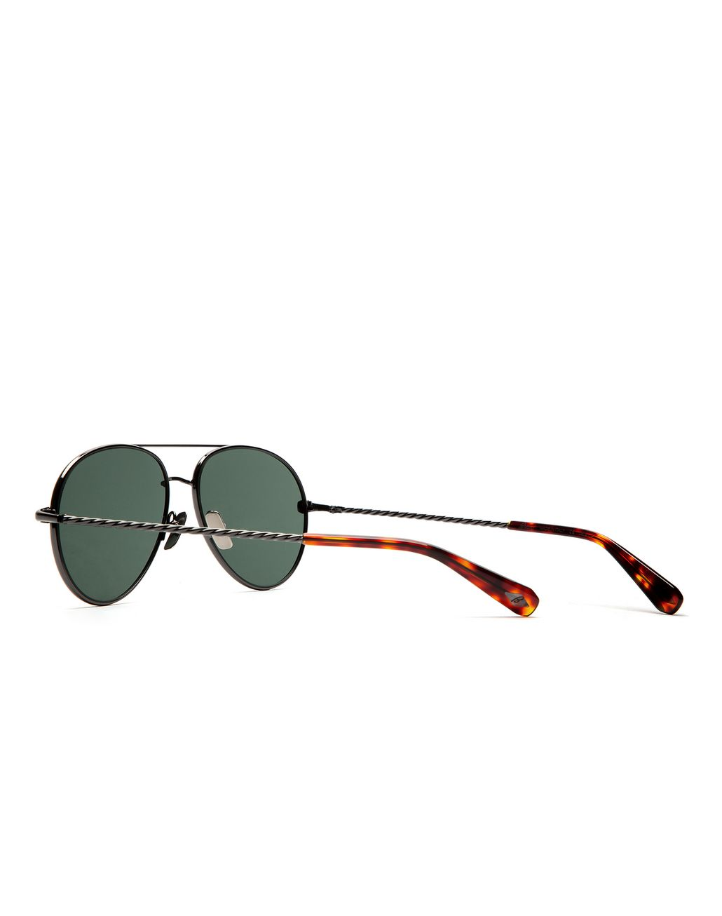 BRIONI Ruthenium Aviator Sunglasses with Green Lenses Sunglasses Man d