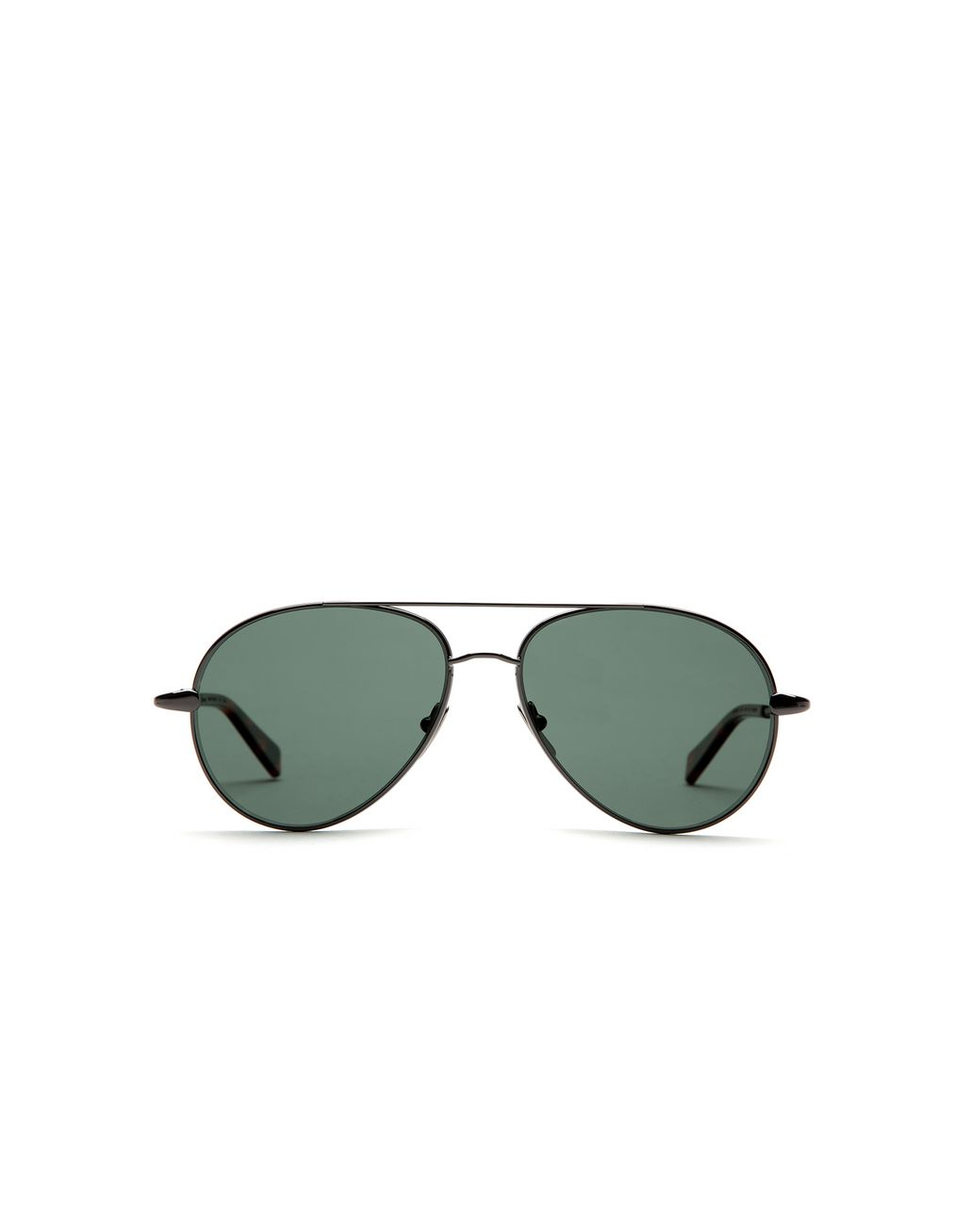 BRIONI Ruthenium Aviator Sunglasses with Green Lenses Sunglasses Man f