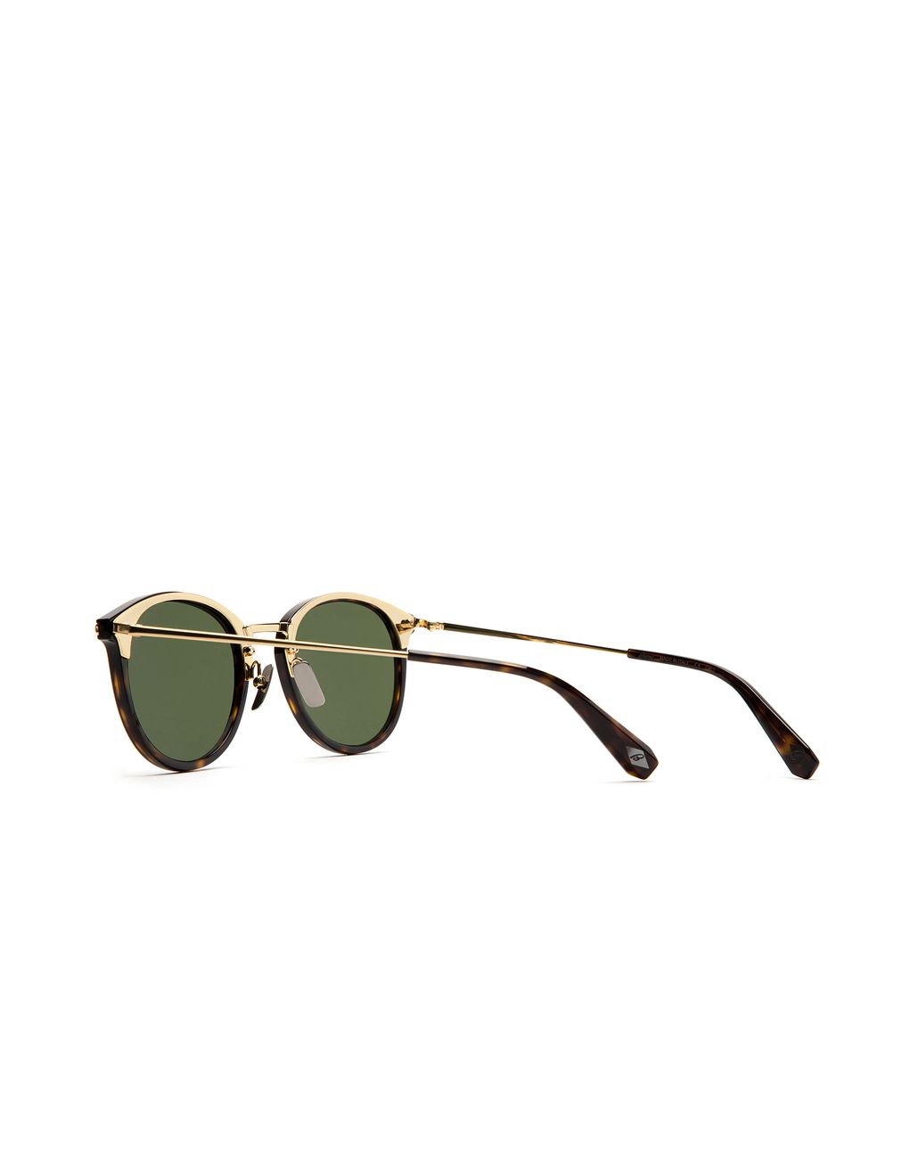 BRIONI Shiny Havana Sunglasses with Green Lenses Sunglasses Man d
