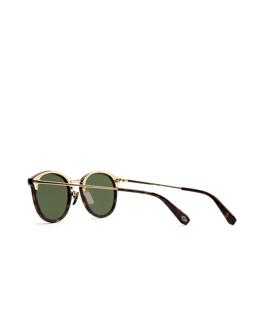 BRIONI Occhiali da Sole Avana con Lenti Verdi Occhiali da Sole Uomo d