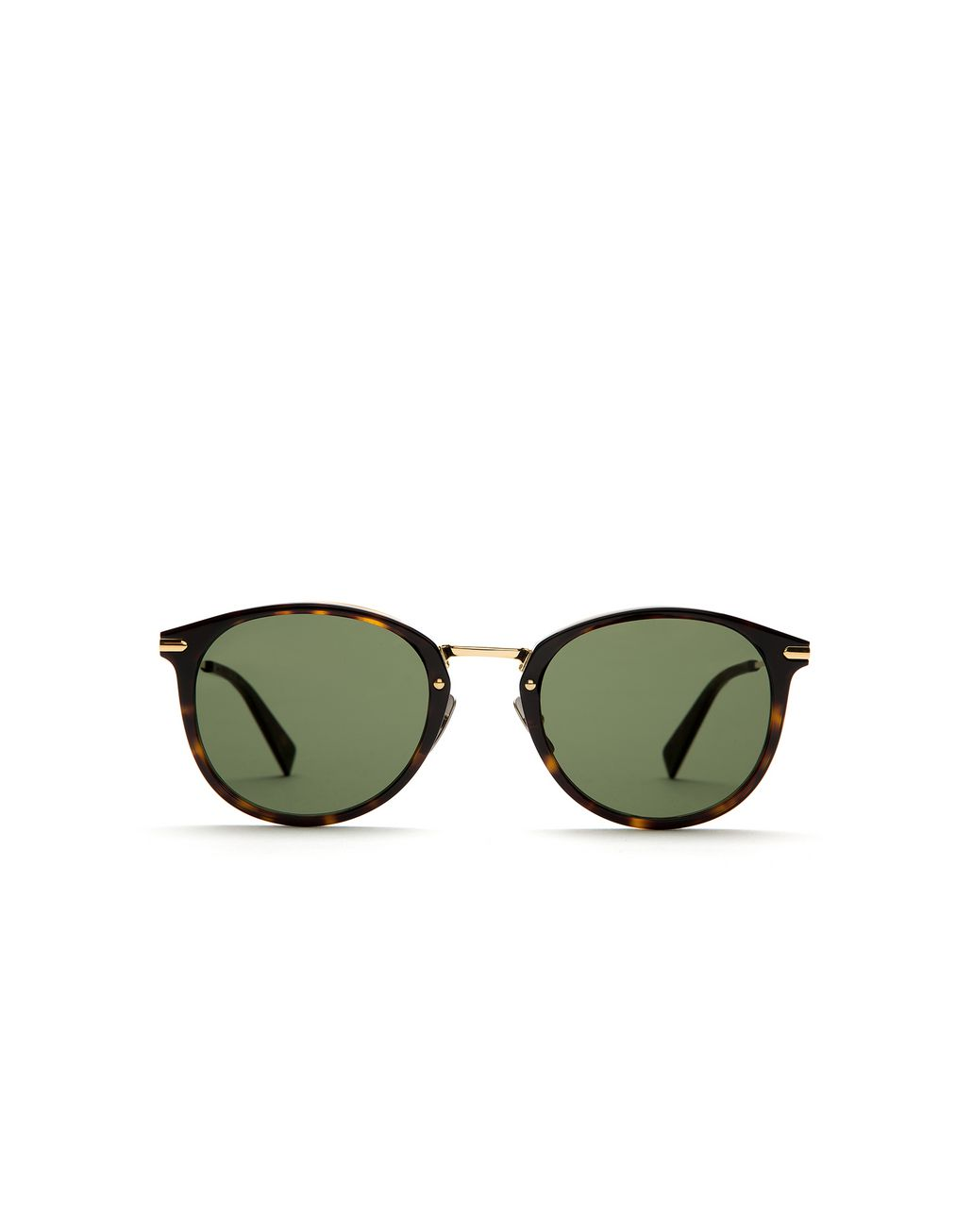 BRIONI Shiny Havana Sunglasses with Green Lenses Sunglasses Man f