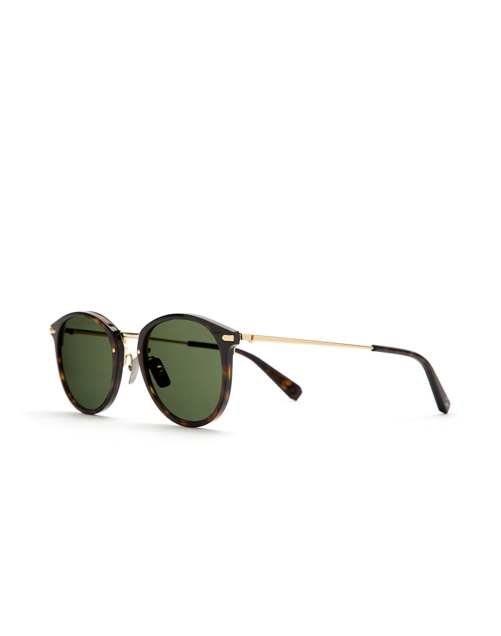 BRIONI Shiny Havana Sunglasses with Green Lenses Sunglasses Man r