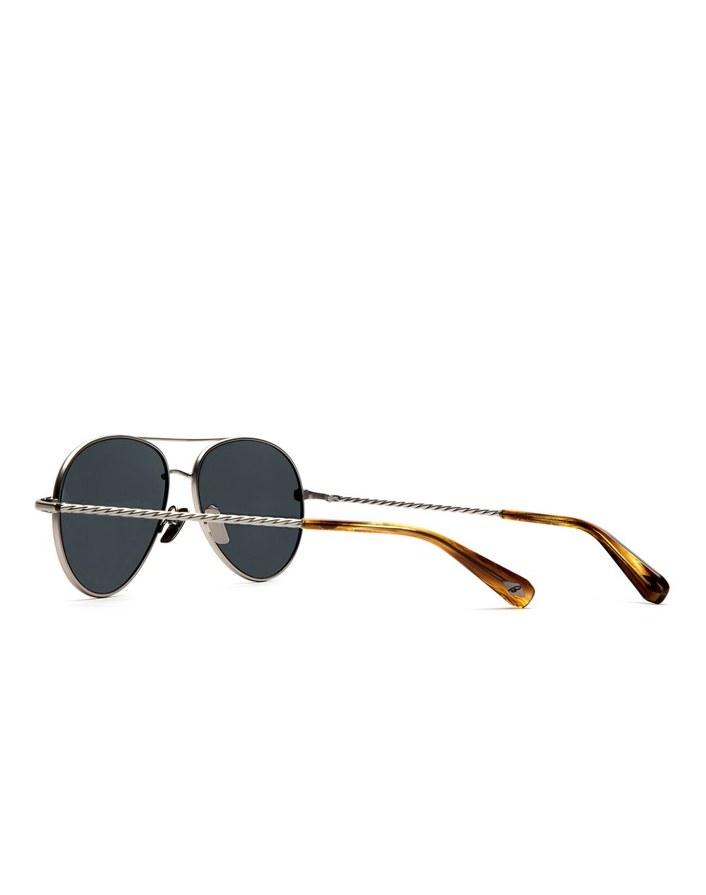 BRIONI Silver Aviator Sunglasses with Gray Lenses Sunglasses Man d
