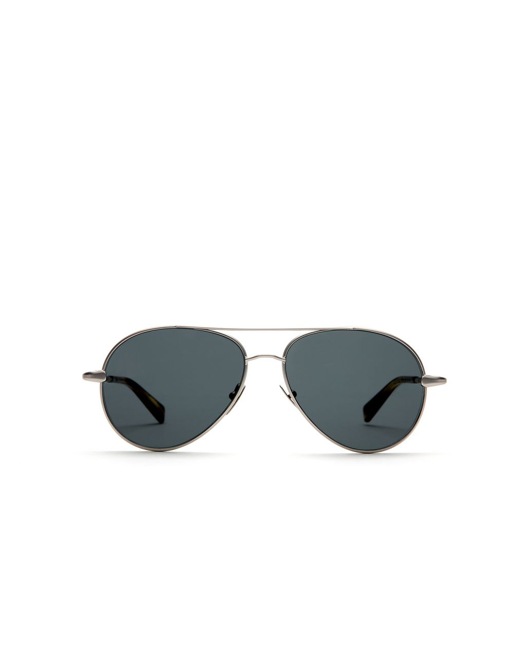 BRIONI Silver Aviator Sunglasses with Grey Lenses Sunglasses U f