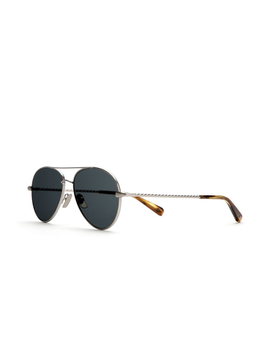 BRIONI Silver Aviator Sunglasses with Gray Lenses Sunglasses [*** pickupInStoreShippingNotGuaranteed_info ***] r