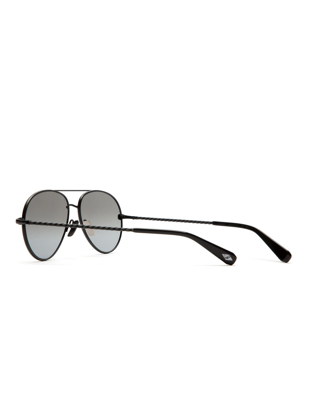 BRIONI Silver Black Aviator Sunglasses with Grey Lenses Sunglasses U d