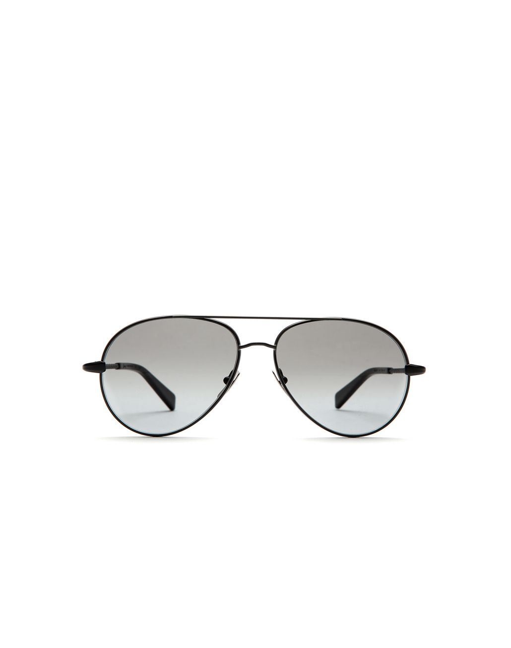 BRIONI Silver Black Aviator Sunglasses with Grey Lenses Sunglasses U f