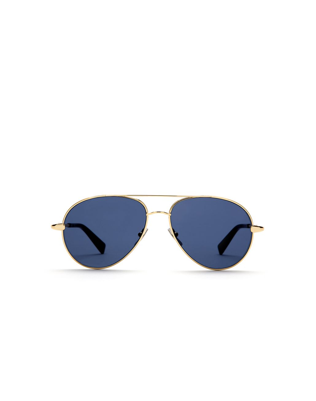 BRIONI Gold Aviator Sunglasses with Blue Lenses Sunglasses U f