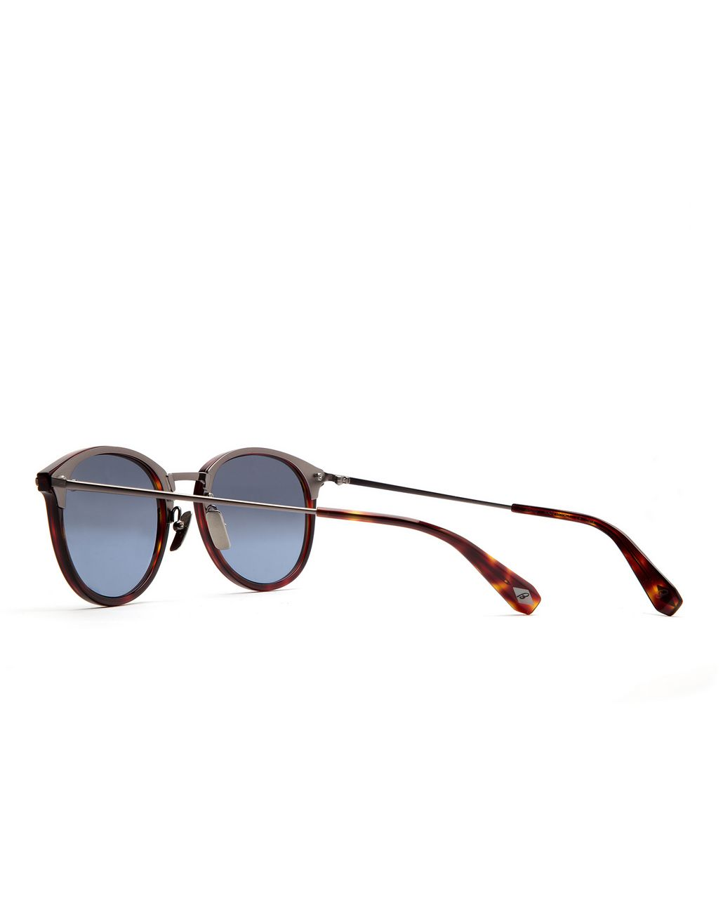 BRIONI Shiny Dark Havana Sunglasses with Silver Gradient Lenses Sunglasses Man d