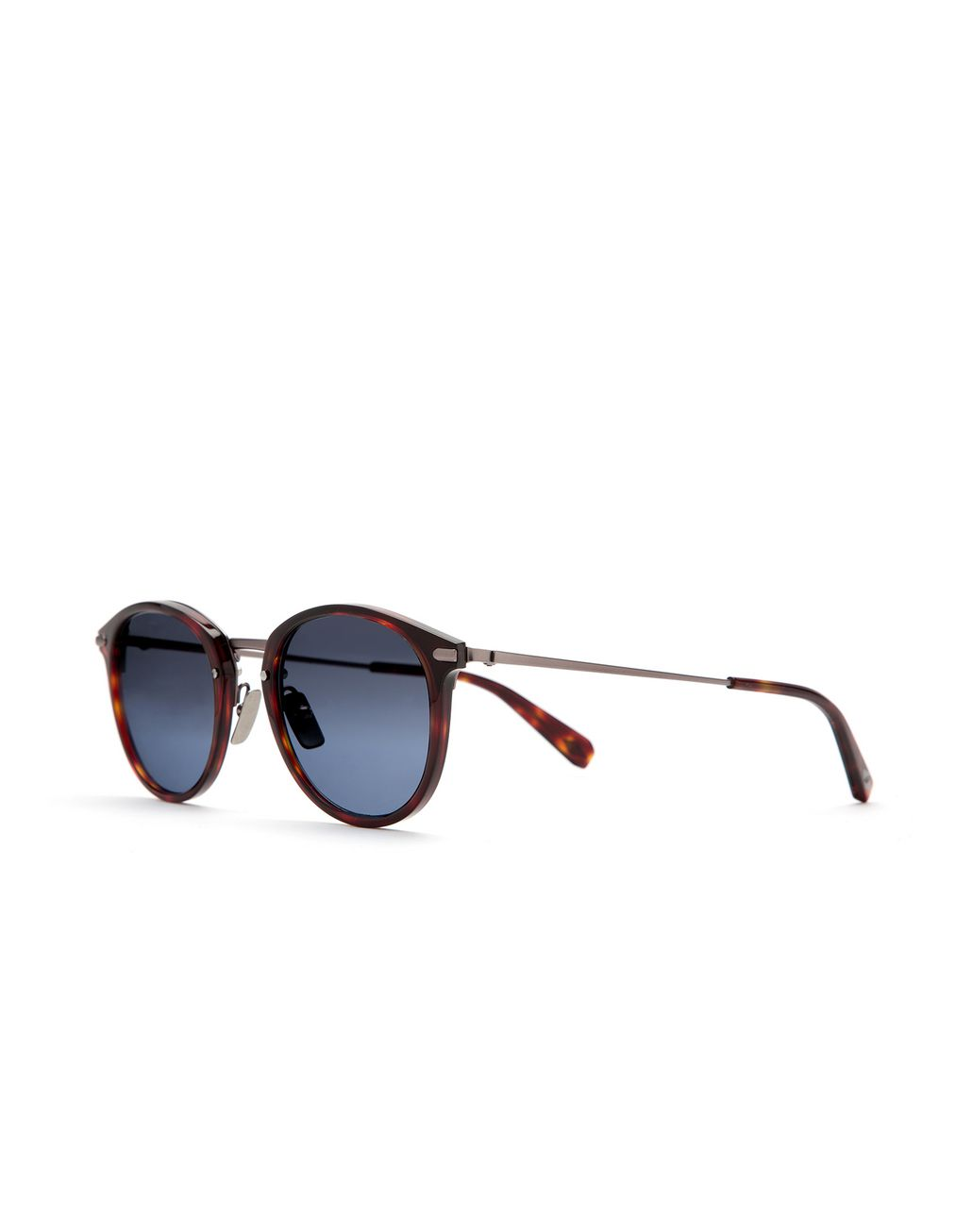 BRIONI Shiny Dark Havana Sunglasses with Silver Gradient Lenses Sunglasses Man r