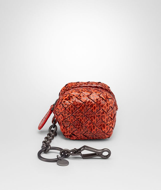 Bottega Veneta Terracotta Intrecciato Ayers Key Ring Terracotta yYSovO