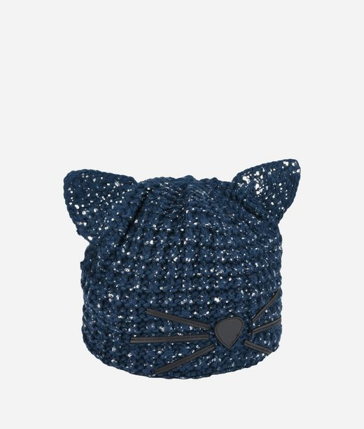 KARL LAGERFELD Cat Beanie Metallic 12_f