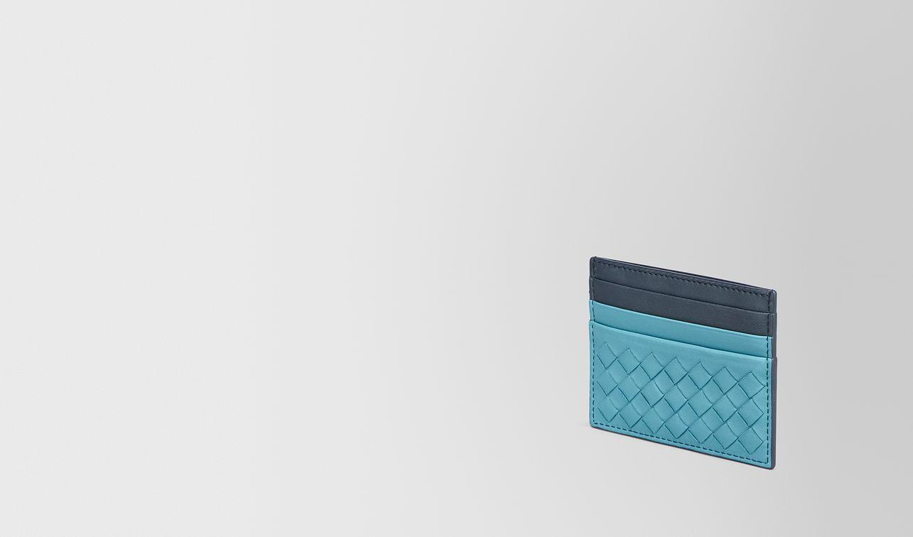 aqua intrecciato nappa card case landing