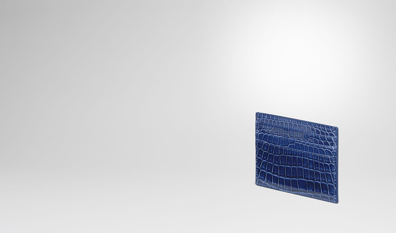 cobalt blue crocodile card case landing
