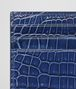 BOTTEGA VENETA COBALT BLUE CROCODILE CARD CASE Card Case or Coin Purse E dp