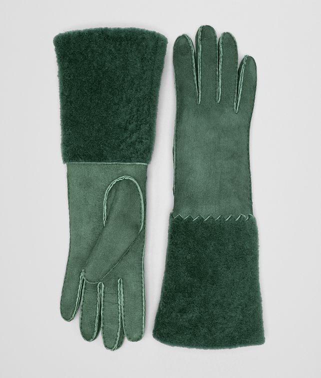 BOTTEGA VENETA THYME SHEARLING GLOVE Hat or gloves Woman fp