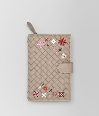 MINK INTRECCIATO MEADOW FLOWER MINI WALLET