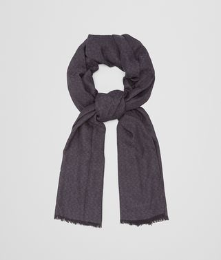 ANTHRACITE WOOL SILK SCARF