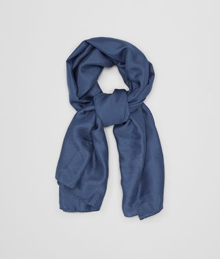 PETROLEUM BLUE SILK SCARF