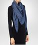 BOTTEGA VENETA PETROLEUM BLUE SILK SCARF Scarf or other Woman rp