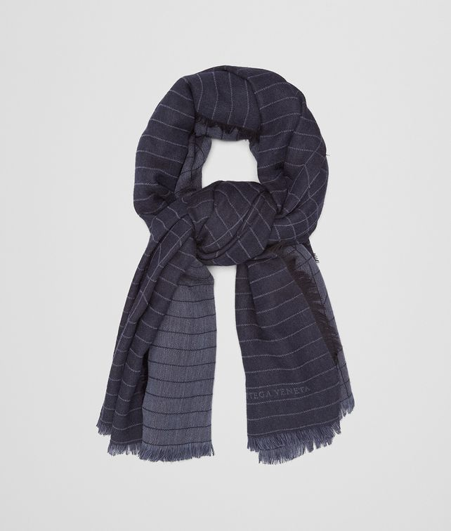BOTTEGA VENETA MIDNIGHT BLUE WOOL SCARF Scarf Man fp