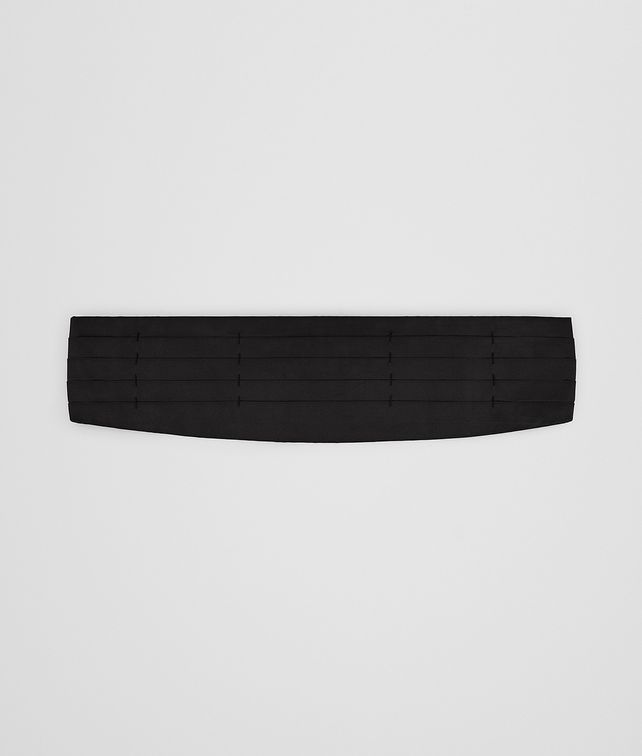 BOTTEGA VENETA NERO SILK CUMMERBUND Belt Man fp