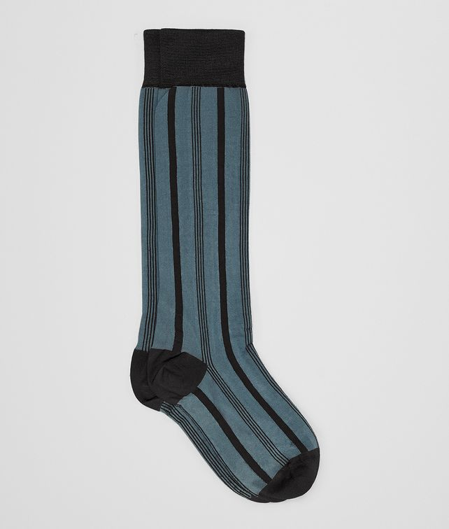 BOTTEGA VENETA DARK AQUA SILK SOCK Socks Woman fp